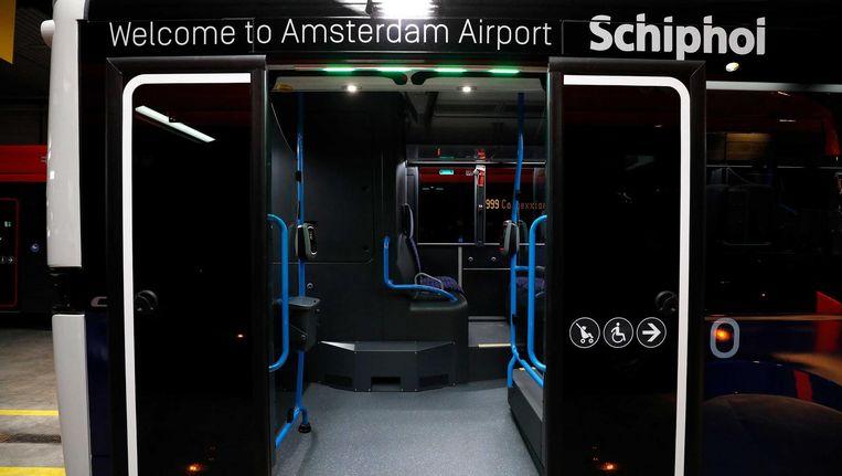 Met 100 elektrische bussen heeft Schiphol de grootste vloot van Europa Beeld ANP