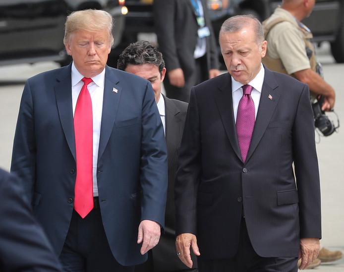 Donald J. Trump en de Turkse president Recep Tayyip Erdogan