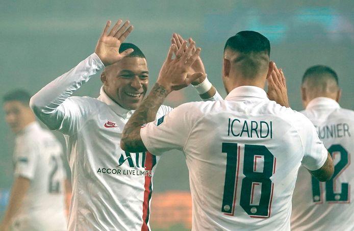 Mauro Icardi en Kylian Mbappé maakten vijf doelpunten.