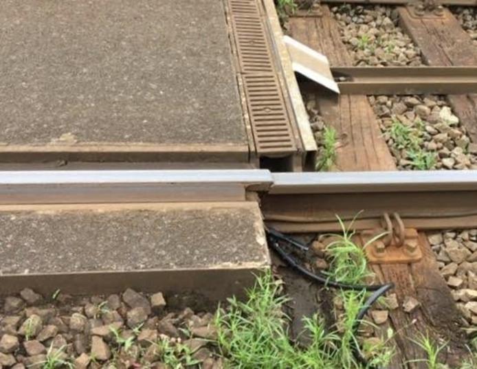 Het spoor is kapot ter hoogte van Deurne