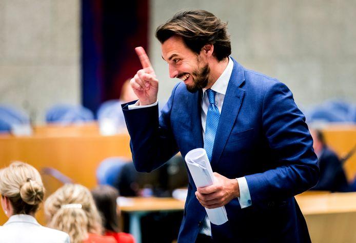 Thierry Baudet (FvD) tijdens het wekelijkse vragenuur.