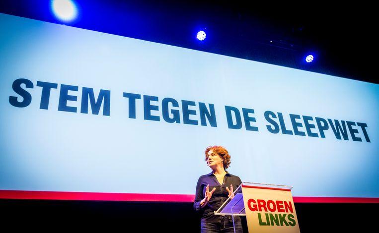GroenLinks-Kamerlid Kathalijne Buitenweg was een van de weinige Kamerleden die wat zeiden over het referendum Beeld ANP