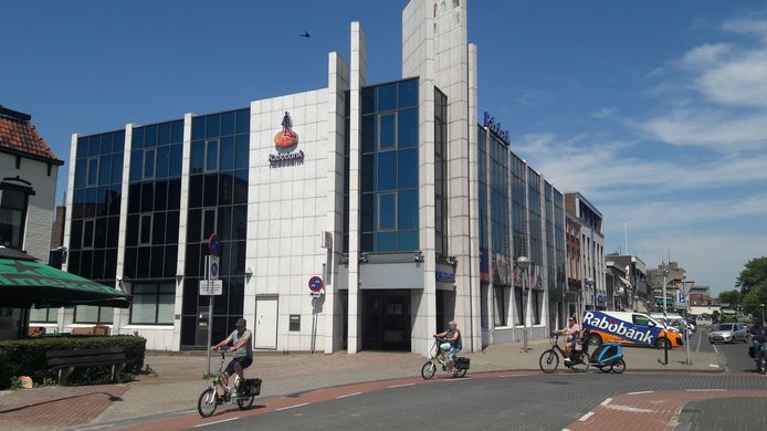 Rabobank aan de Herengracht in Terneuzen, nog het enige filiaal in Zeeuws-Vlaanderen.