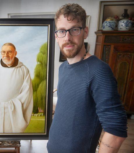 Ravensteinse Rembrandt schildert abt: 'Wel speciaal om als 'Ollander een Belgische abt te portretteren'