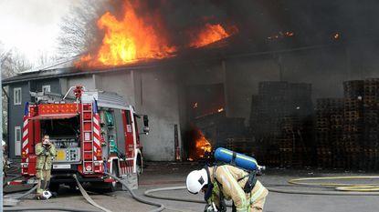 Asbest vrijgekomen bij magazijnbrand