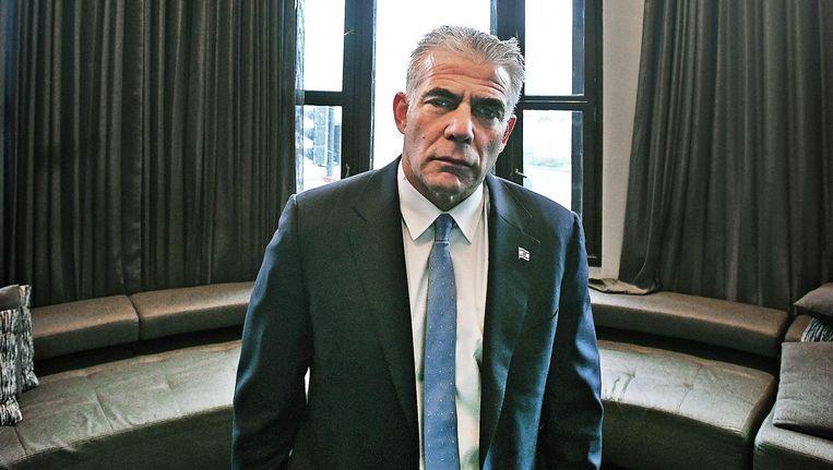 Yair Lapid in een Amsterdams hotel. Beeld Guus Dubbelman / de Volkskrant