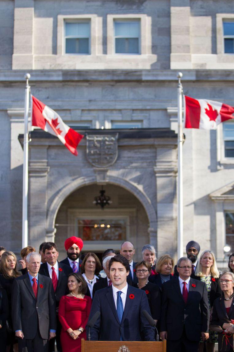 Trudeau presenteert zijn regering Beeld afp