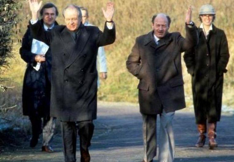 Freddy Heineken (links) en zijn chauffeur Ab Doderer na hun vrijlating.