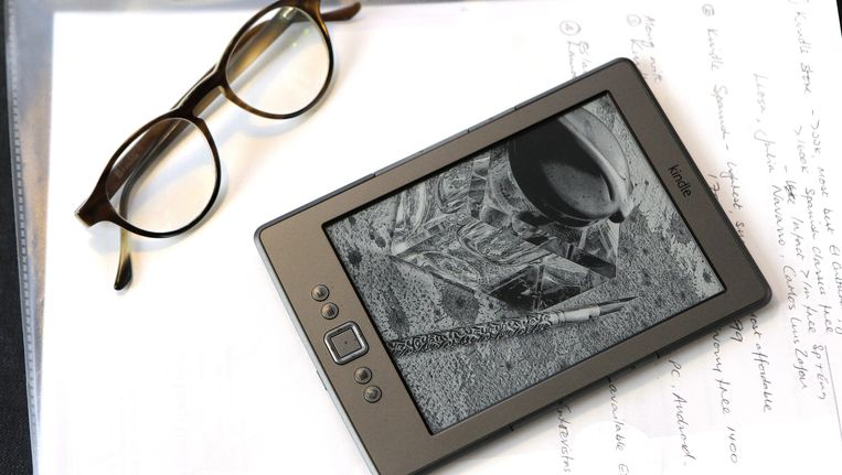 Een Kindle e-book reader Beeld EPA
