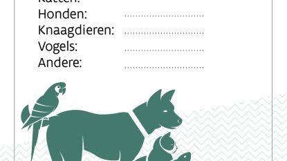 Dieren in huis? Laat dat weten met een sticker