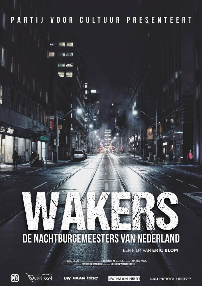 De poster voor de documentaire die Martijn van Hese van de Partij voor Cultuur en Jeroen van Doornik, Nachtburgemeester in Zwolle, willen maken.