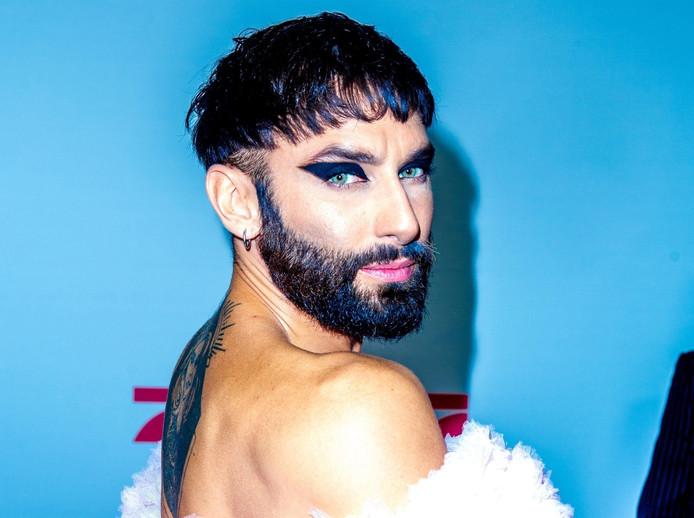 """""""Conchita Wurst"""", le personnage de Thomas Neuwirth, avait remporté le concours de l'Eurovision pour l'Autriche, en 2014."""