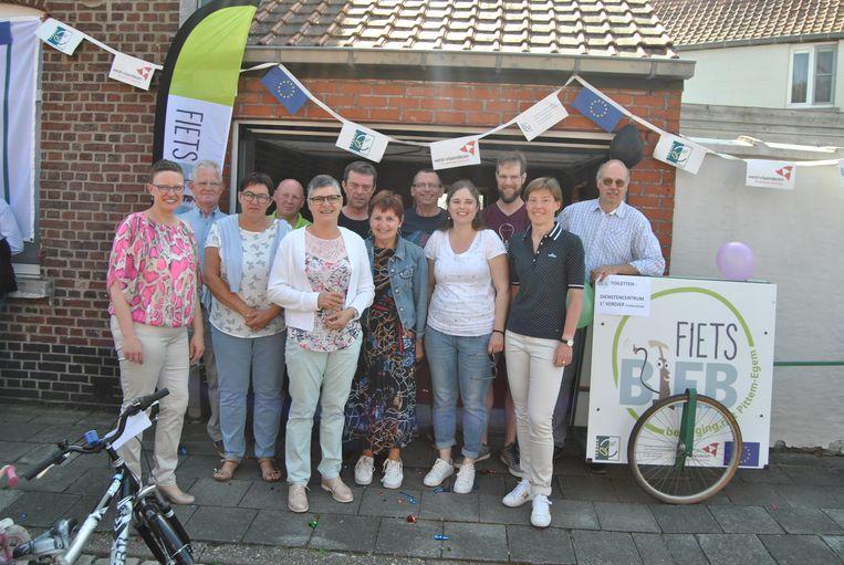 De opening van de fietsbieb in Pittem.