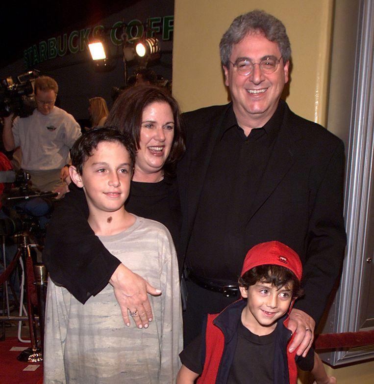 Harold Ramis met zijn vrouw Erica en zonen Julian en Daniel.