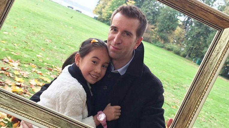Lil Tay en haar vader.