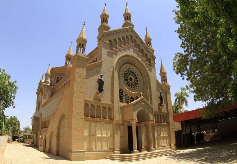 De rooms-katholieke St. Matteus-kathedraal in de buurt van de Soedanese hoofdstad Khartoum. Beeld afp