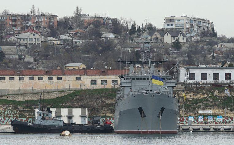 Een Oekraïens marineschip. Beeld getty