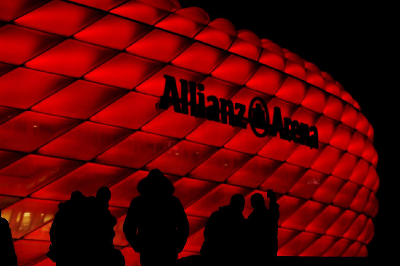 De Allianz Arena in München.