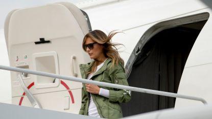 Vliegtuig met Melania Trump maakt rechtsomkeer na rookontwikkeling