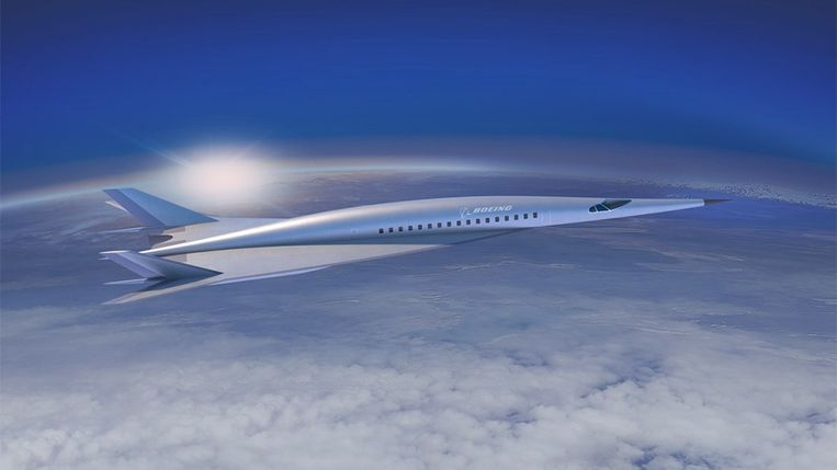 Het gloednieuwe conceptvliegtuig van Boeing