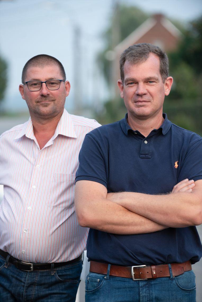 Lijsttrekker Steven Thomas (rechts) en lijstduwer Geert De Mullier.