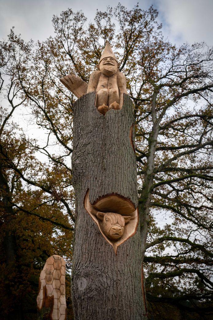 Mooie details in deze boom, nu een kunstwerk.