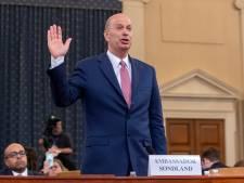 Amerikaanse EU-ambassadeur: 'Advocaat van Trump stelde voorwaarden aan Kiev'