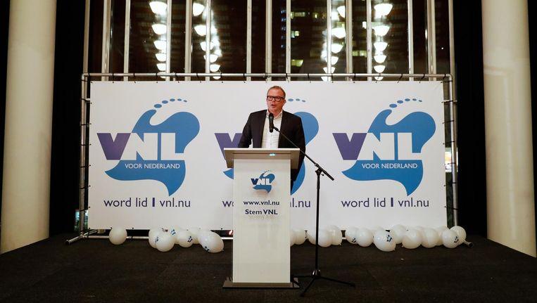 Lijsttrekker Jan Roos spreekt tijdens het VNL verkiezingscongres. Beeld anp