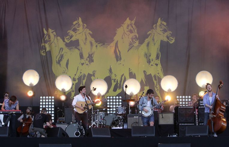 Mumford and sons op Pinkpop.