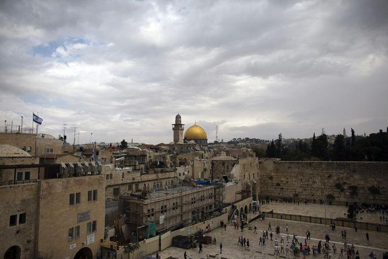 Uitzicht op de Klaagmuur in Jeruzalem Beeld reuters