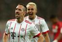 Franck Ribéry viert zijn treffer.