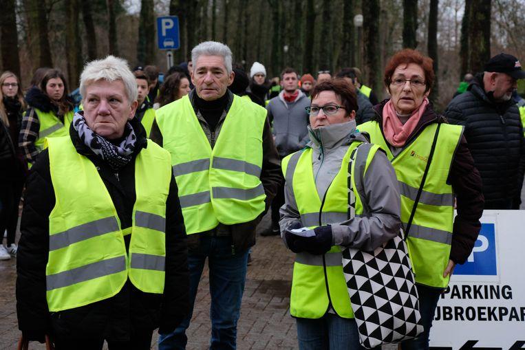 Louis, Patricia en Godelieve Cristiaens en Jacqueline Hemmerechts kwamen hun familie steunen.