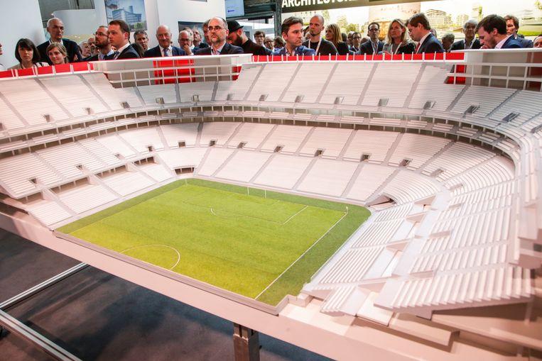 In mei 2016 werd een schaalmodel van het Eurostadion voorgesteld aan de verzamelde pers én aan een delegatie van de UEFA. Die beslist deze week of Brussel in de running blijft als speelstad voor