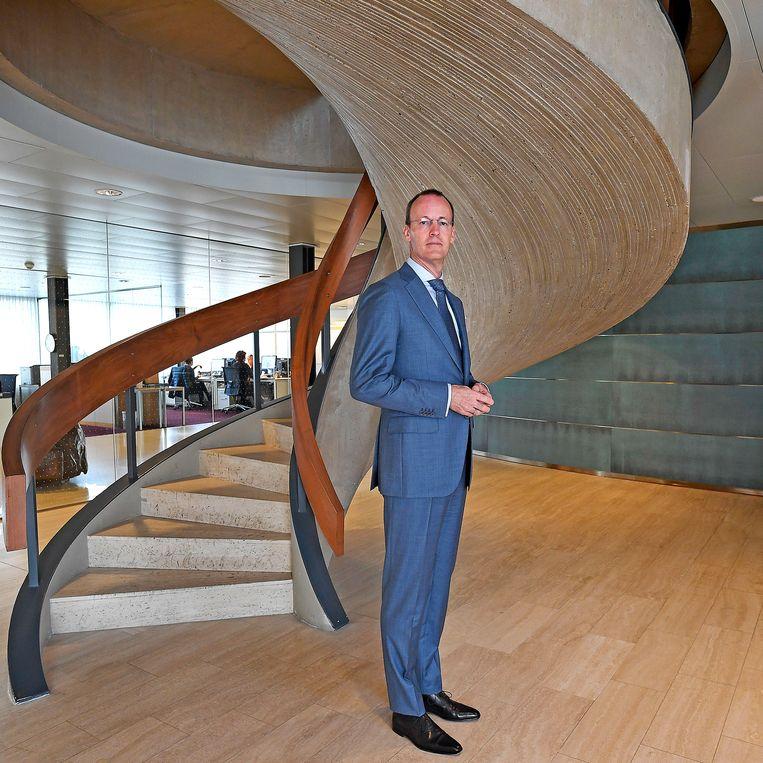 Klaas Knot, directeur van De Nederlandsche Bank, wordt voorzitter van de Financial Stability Board te Bazel.  Beeld Guus Dubbelman / de Volkskrant