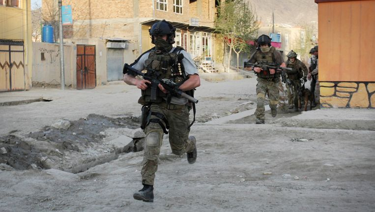 Soldaten in Afghanistan. Beeld AP