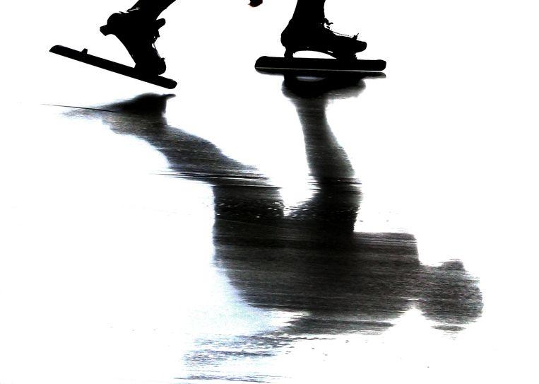 Een schaatser tijdens de NK afstanden in 2004 in Assen. Beeld Jiri Buller