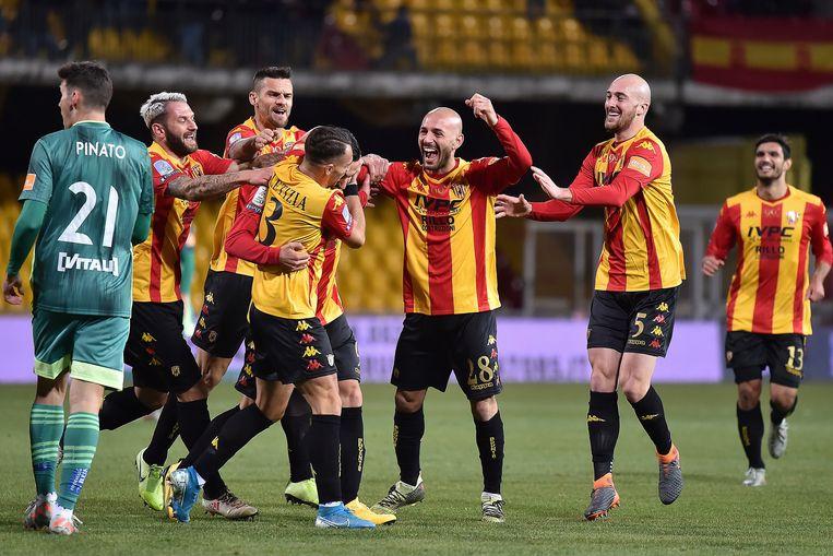 Benevento is al veertien wedstrijden op rij ongeslagen in de Serie B.
