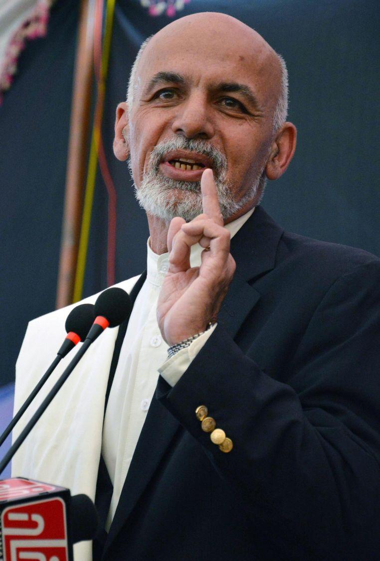 Archieffoto. De Afghaanse president Ashraf Ghani in 2014. Beeld epa