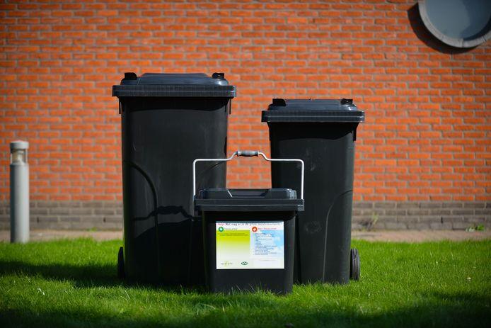 Dit zijn de afvalcontainers waaruit de Veurnaar zal kunnen kiezen.