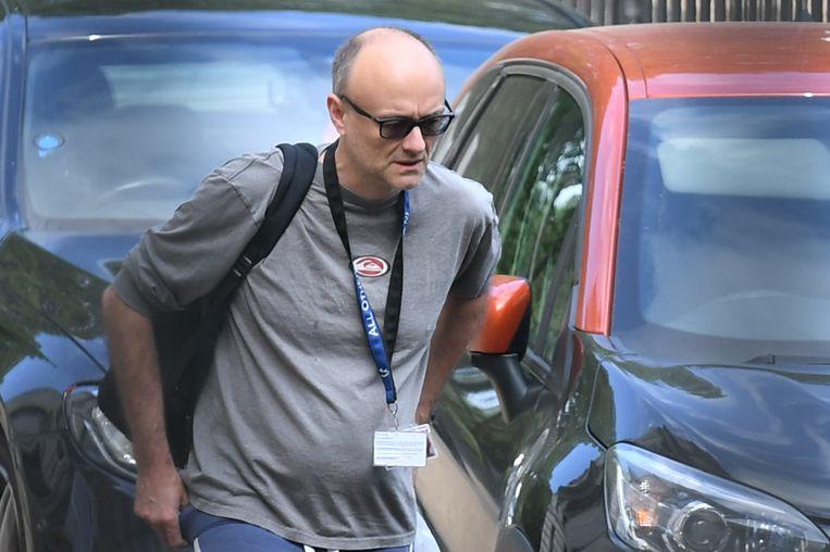 Dominic Cummings, de omstreden adviseur van de Britse premier Johnson in Londen.