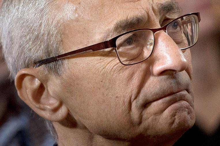 John Podesta, voorzitter van de Clinton-campagne Beeld AFP