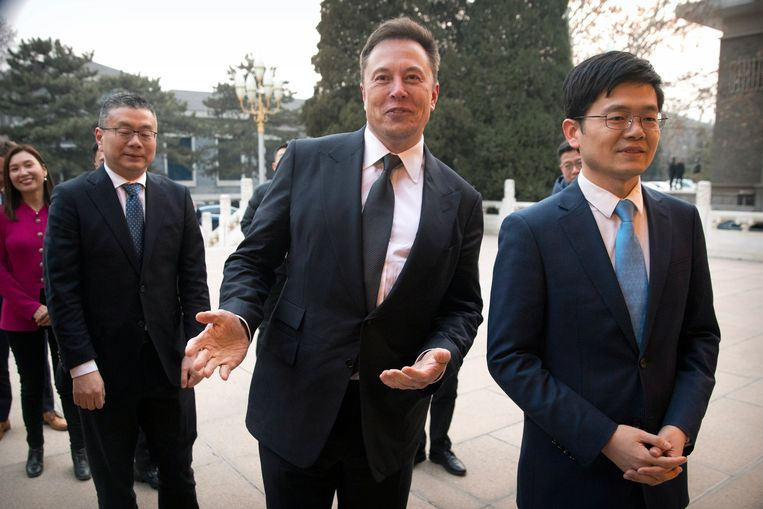 De topman van Tesla was enkele dagen geleden in Shangai, waar hij een fabriek bouwt.