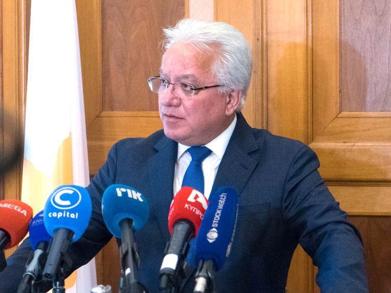 De Cypriotische justitieminister Ionas Nicolaou stapt op.