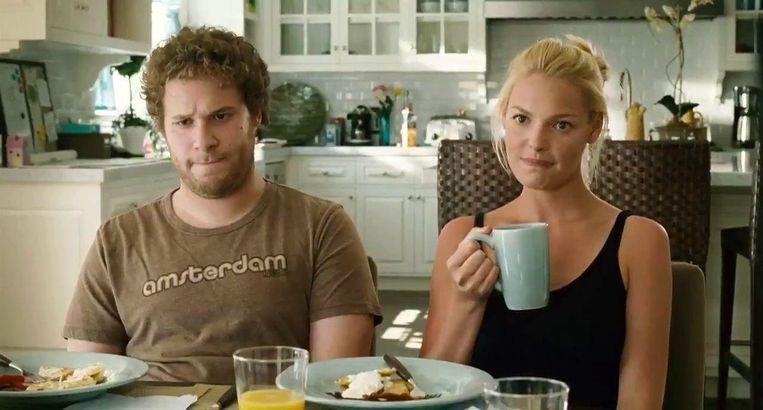 Seth Rogen en Katherine Heighl in 'Knocked Up'