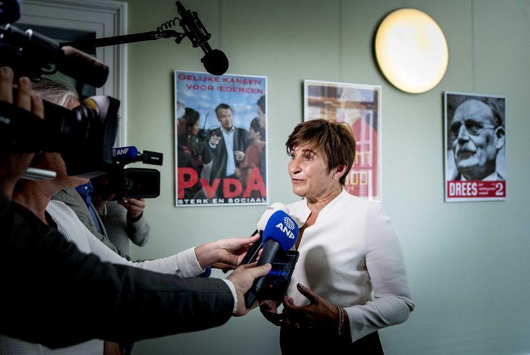 PvdA-Kamerlid Lilianne Ploumen reageert op de situatie rondom bestuursvoorzitter André Postema van de stichting Limburgs Voortgezet Onderwijs LVO. Beeld ANP
