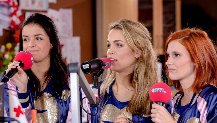 De drie nieuwe leden van de meidengroep: Klaasje, Hanne en Marthe Beeld anp