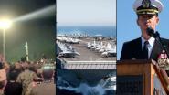 Spectaculair eerbetoon voor commandant vliegdekschip die aan de kant werd geschoven na 'coronabrief'