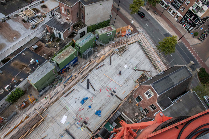Hartje Tilburg, appartementen op de locatie van MIDI gaan de lucht in. Nog geen bouwproject in de stad stil vanwege de stikstofcrisis.