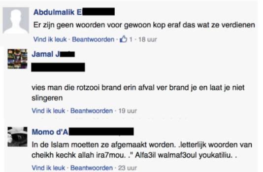 Reacties onder het artikel op Bladna.nl