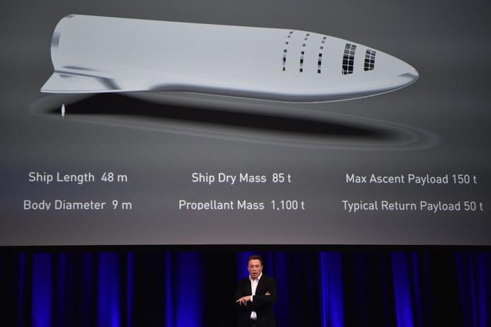 Een illustratie van de BFR, oftwel Big Fucking Rocket.